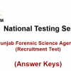 NTS Test Result Punjab Forensic Science Agency Jobs 2016 Answer Keys