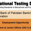 NTS Test Result State Bank SBP BSC OG-1 Officers 2014 Answer Keys