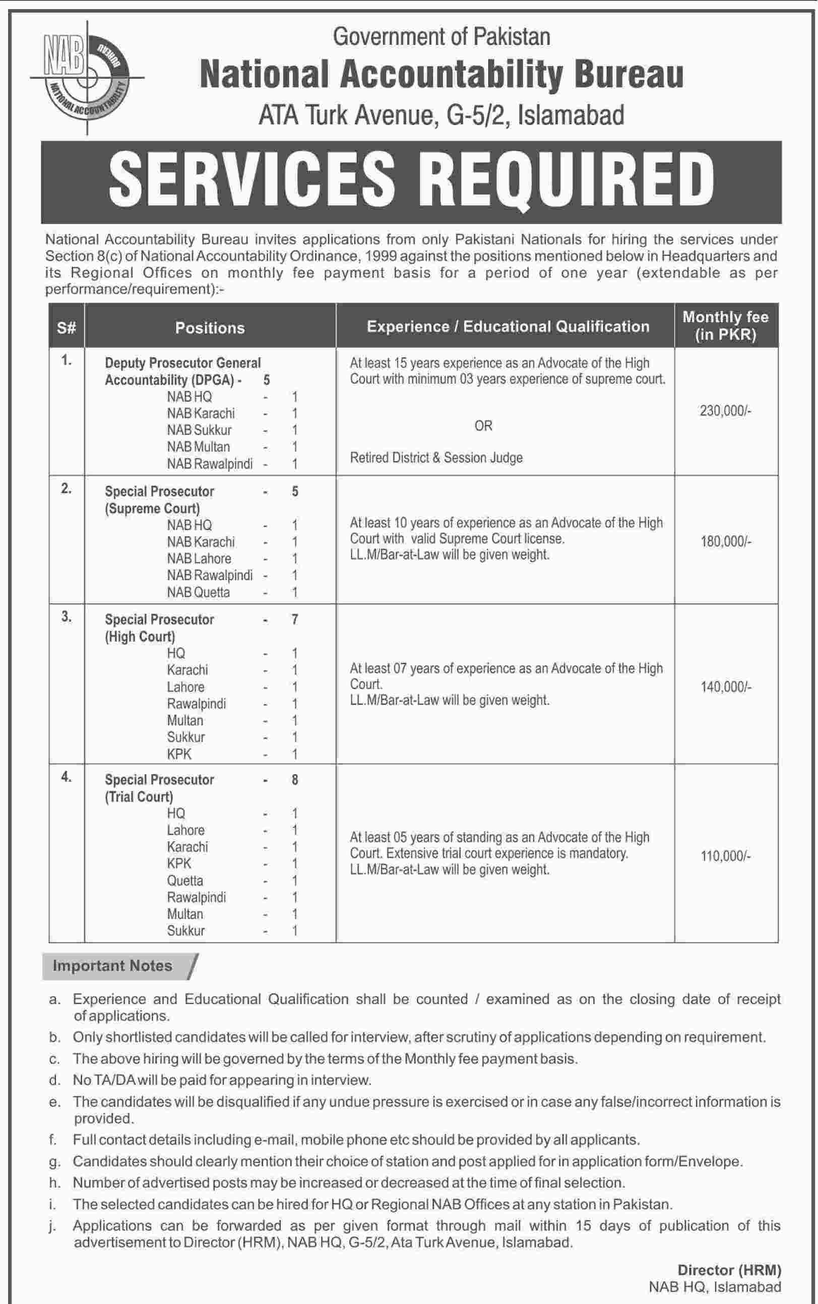 National Accountability Bureau NAB Islamabad Jobs 2015 - Copy