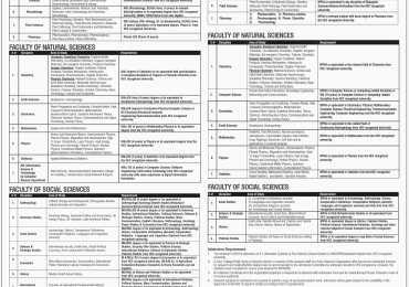 Quaid i Azam University Islamabad M.Phil, PhD Spring Admissions 2016 Form