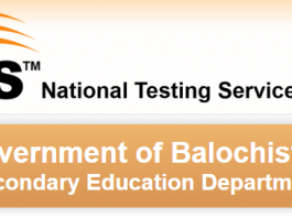 NTS Sample Paper, Syllabus For Secondary Education Department Balochistan