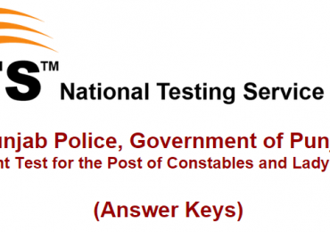 Punjab Police Constable, Lady Constable NTS Test Result 2016 Answer Keys