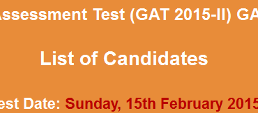 NTS GAT Subject Result 22nd February 2021