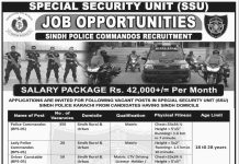 Sindh Police Commando SSU Jobs NTS Test Date 2016, Roll No Slips