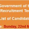 TEVTA Punjab NTS Test Result 2015 Answers Key 22nd March