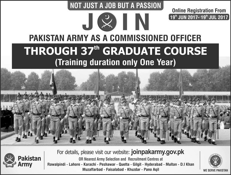 Join Pak Army Graduate Course 2017 Online Registration Criteria