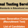 Northern Power Generation Company NTS Test Result 2015 Check Online