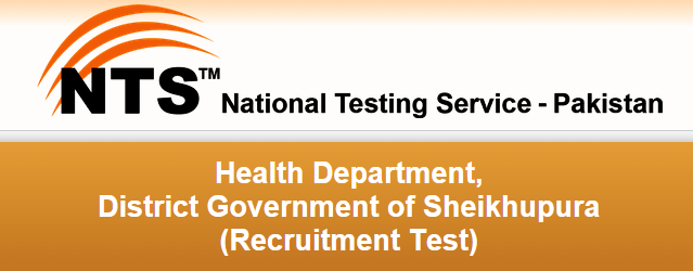 Health Department Sheikhupura NTS Test Result 2015 Computer Operator, Stenographer