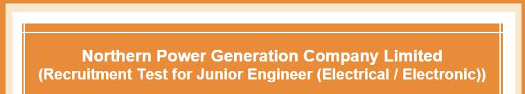 NPGCL NTS Result 2015 Northern Power Generation Company Junior Engineer
