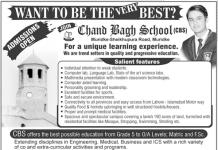 Chand Bagh School Muridke Admission 2016
