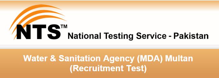 Water & Sanitation MDA Multan NTS Test Result 2015 Assistant Director, Sub Engineer