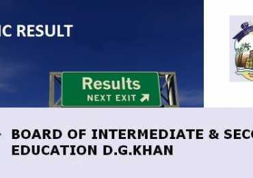 DG Khan Board Matric 10th Class Result 2017 www.bisedgkhan.edu.pk