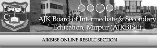 BISE AJK Mirpur Board Intermediate Result 2016