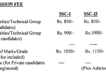 FBISE Federal Board SSC Part 1, 2 Admission Form 2017 Schedule