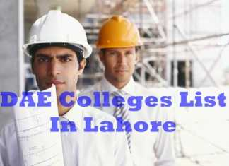 List Of Best DAE Colleges In Lahore Pakistan