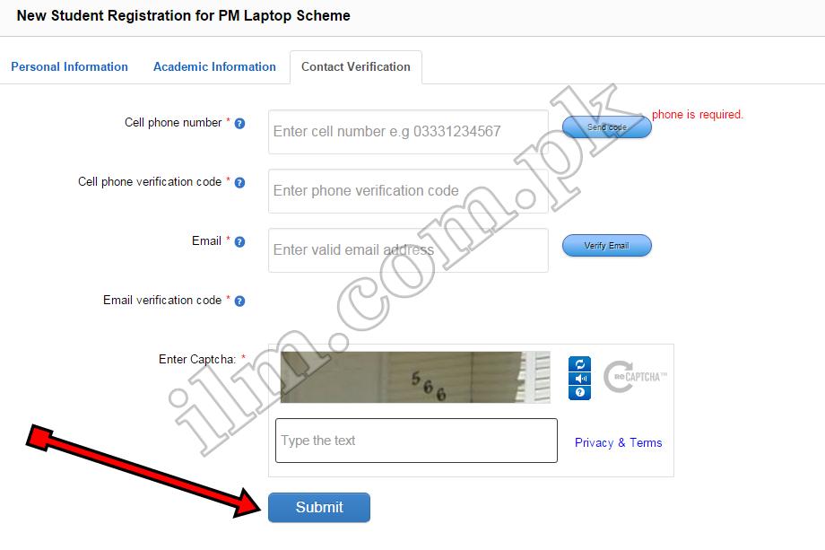 Free Laptop Scheme Registration process