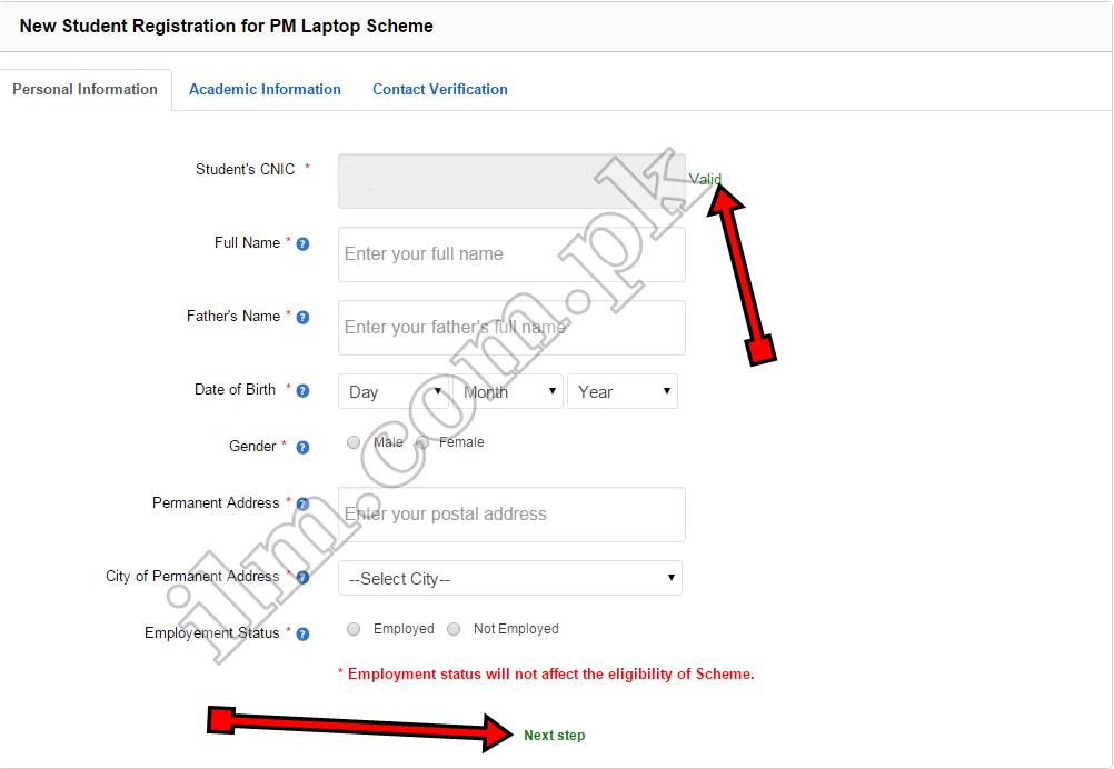 Laptop scheme online registration procedure 2016 pmnls hec gov pk form
