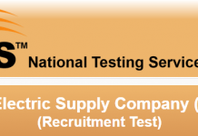 Quetta Electric Supply Company QESCO NTS Test Result 2015 Answer Keys
