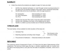 Student Loan Scheme 2018 In Pakistan National Bank Application Form Download