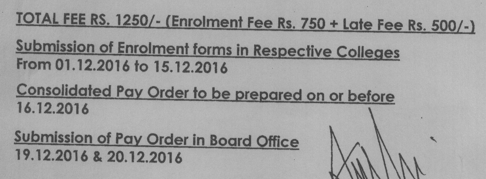 BIEK Karachi Board Inter part 1, 2 Form Submission Schedule 2017
