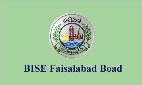 BISE Faisalabad Board Matric 10th Class Date Sheet 2019