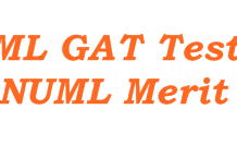 NUML University Postgraduate GAT Entry Test Result 2016 Merit List