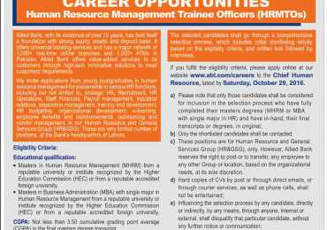 Allied Bank Limited ABL Jobs 2016 Apply Online Last Date