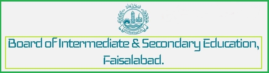 BISE Faisalabad Board Date Sheet 9th Class 2019