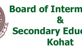 BISE Kohat Board Model Papers 2020 Inter HSSC Part 1, 2 Download