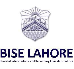 BISE Lahore Board Inter Part 1, 2 FA, FSC Date Sheet 2018