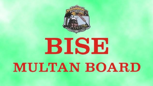 BISE Multan Board Matric 10th Class Date Sheet 2019