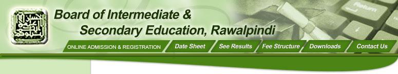 BISE Rawalpindi Board Date Sheet 9th Class 2020