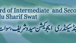 BISE Swat Board Matric 9th, 10th Class Model Paper 2018 Download