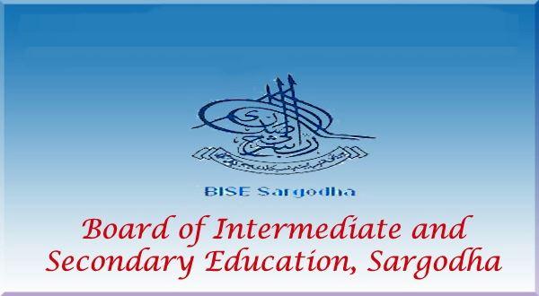 Sargodha Board 9th, 10th Class Roll Number Slip 2019