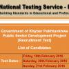 KPK Public Sector Development Project Jobs 2016 NTS Test Result, Answer Keys