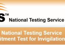 National Testing Service NTS Invigilation Staff Jobs 2016 Roll Number Slip, Test Date