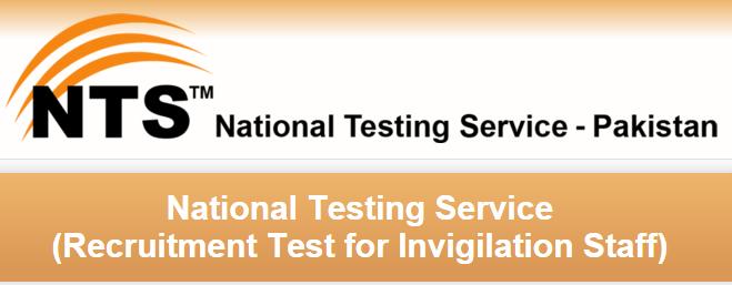 National Testing Service NTS Invigilation Staff Jobs 2016 Roll Number Slip, Test Date