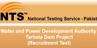 WAPDA Tarbela Dam Project Jobs NTS Test Result 2016 Answer Keys Online