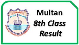 Multan Board 8th Class Result 2017 Online