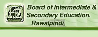 BISE Rawalpindi Board Inter Part 1, 2 Date Sheet 2018