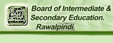BISE Rawalpindi Board Inter Part 1, 2 Date Sheet 2017