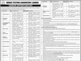 Drugs Testing Laboratory Lahore Jobs 2016 NTS Application Form Date, Advertisement