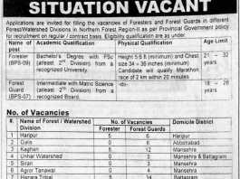 Forest Department Jobs 2016 NTS Application Form Last Date Advertisement
