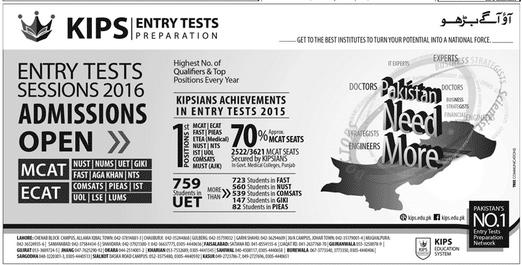 KIPS Entry Test 2016 Preparation