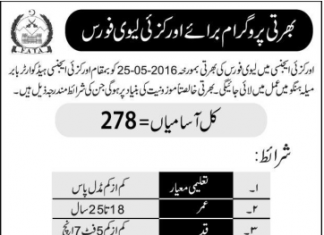 Orakzai Agency Jobs 2016 Levies Force PTS Jobs Application Form Download_001