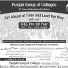 Punjab Group Of Colleges PGC Free Pre 1st Year Admissions 2016