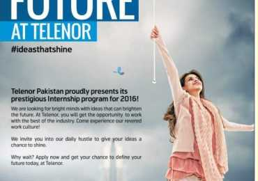 Telenor Internship Program 2017 Apply Online Application