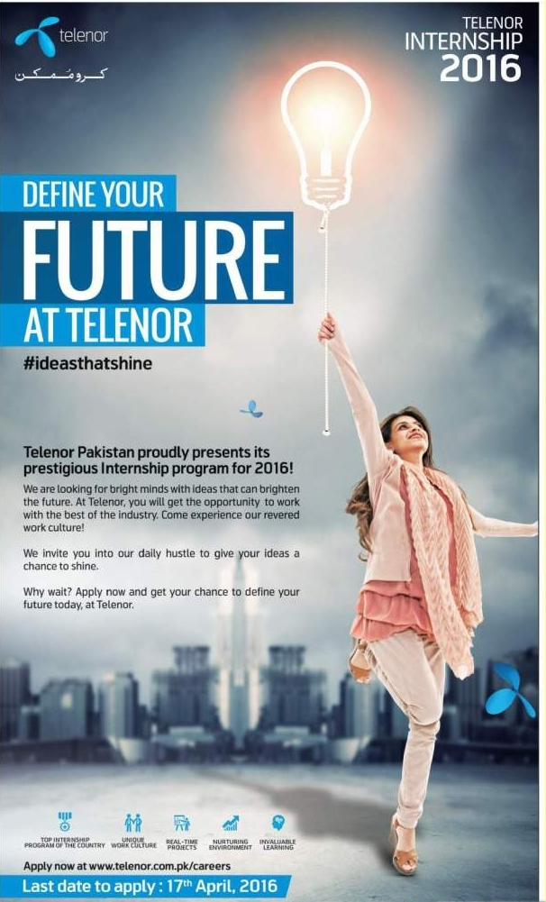Telenor Internship Program 2018 Apply Online Application