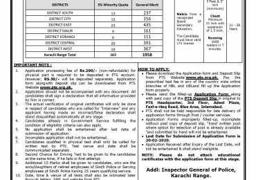 Sindh Police Constable Driver Jobs in Karachi Range 2020