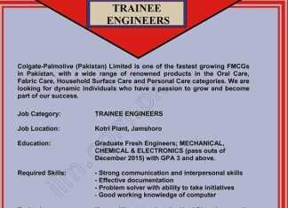 Colgate Trainee Engineers Program 2016 Apply Online Colgate Palmolive Pakistan Jobs